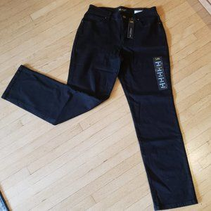 NEW Lee Black Relaxed Fit Straight Leg Jeans 8